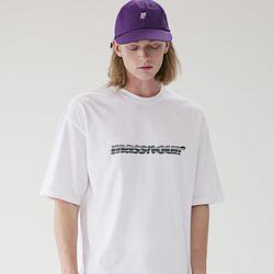 매스노운 SL 3D 로고 오버핏 반팔 티셔츠 MSETS009-WT