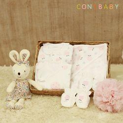 [CONY]신생아선물6종세트(딸기+여아애착인형)