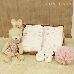 [CONY]신생아선물6종세트(딸기+베순이애착인형)