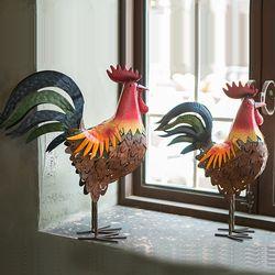 JD3-0129 철재 닭 장식소품 1p (소)