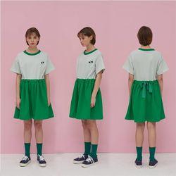 Love it 리본 원피스 - GREEN