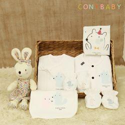 [CONY]신생아선물7종세트(파티+여아애착인형)
