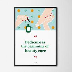 유니크 디자인 포스터 M 패디큐어 네일샵 A3(중형)