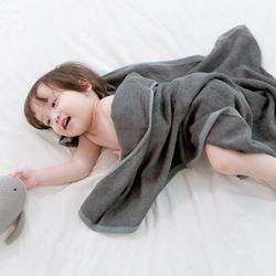 밤부 아기목욕타올 - 차콜 (신생아블랭킷 비치타올)