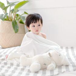 밤부 아기목욕타올 - 화이트 (신생아블랭킷 비치타올)