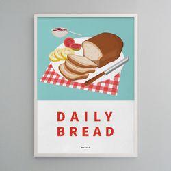 유니크 디자인 포스터 데일리 브레드 빵집 A2(대형)