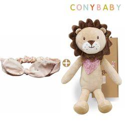 [CONY]사자수면인형+오가닉핑크헤어밴드2종세트