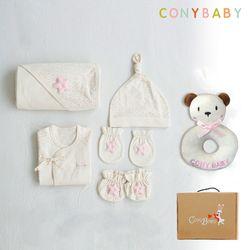 [CONY]오가닉베이비6종선물세트(여아5종+곰딸랑이)