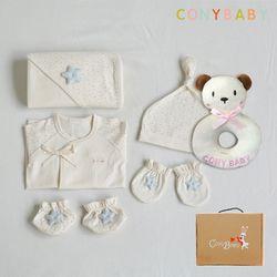 [CONY]오가닉베이비6종선물세트(남아5종+곰딸랑이)