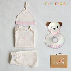 [CONY]오가닉팅커벨4종선물세트(의류3종+곰딸랑이)