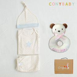 [CONY]오가닉피터팬4종선물세트(의류3종+곰딸랑이)