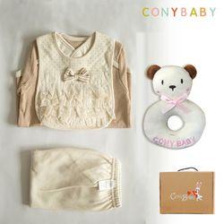 [CONY]오가닉백설공주4종선물세트(의류3종+곰딸랑이)