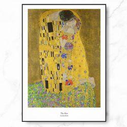클.림.트 명화 그림 KISS 키스 메탈 중형