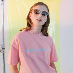 [N] Full name logo tshirt-pink