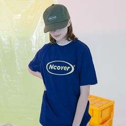 [N] Round logo tshirt-blue navy