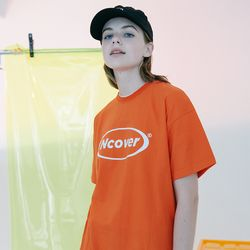 [N] Round logo tshirt-ornage