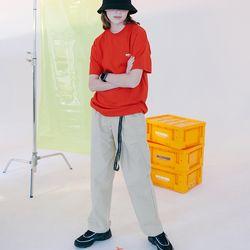 [N] Basic cotton pants-beige