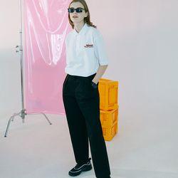 [N] Basic cotton pants-black