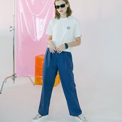 [N] Basic cotton pants-dark blue