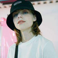 [N] Round bucket hat-black
