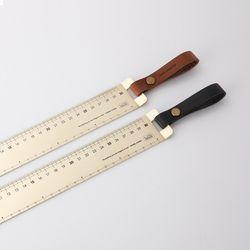 Brass Ruler 30cm (Wide) 황동자 가죽스트랩Ver.