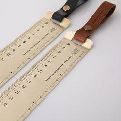 Brass Ruler 50cm (Wide) 황동자 가죽스트랩Ver.