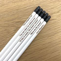 메시지를 담은 화이트 연필 5본세트- White