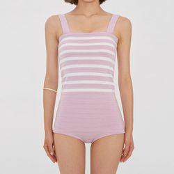 pastel stripe knit bikini