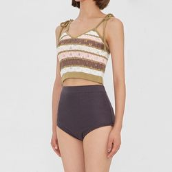 rainbow knit bikini