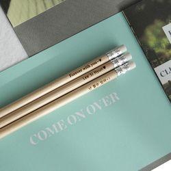 메시지를 담은 지우개연필 5본세트-Natural Eraser