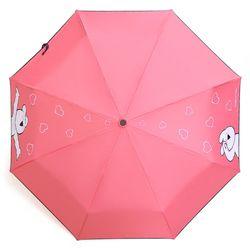 오버액션토끼 완자 오버하트 우산 (핑크)