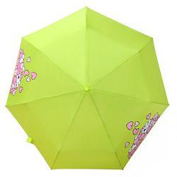 오버액션토끼 3단 만땅하트 우산 (연그린)