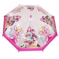 시크릿쥬쥬 날개 POE 반자동 우산 50cm