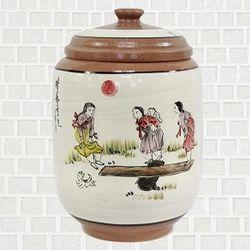 황토 쌀항아리 널뛰기 쌀독 용량 10kg CH1398837