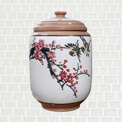 황토 쌀항아리 매화 쌀독 용량 10kg CH1399133