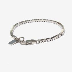 Unisex Edge Chain Silver Bracelet 엣지 체인 실버팔찌