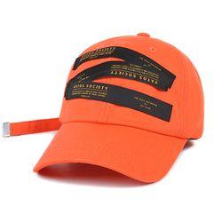 LABEL BASEBALL CAP ORANGE