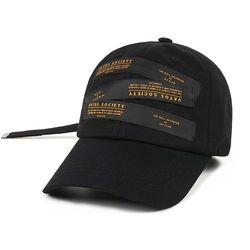 LABEL BASEBALL CAP BLACK