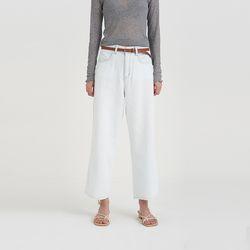 thin texture denim pants (3colors)