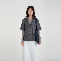 wearable linen half jacket (2colors)