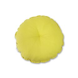 린넨 원형방석 yellow
