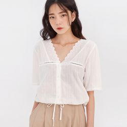 soft pure lace point blouse