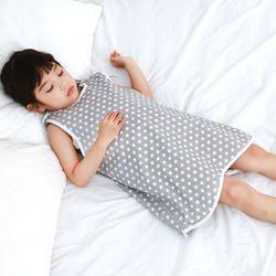무형광 순면 아동 스타 수면조끼 여름원단 슬립색 잠옷