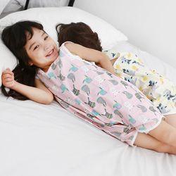 무형광 순면 아동 래빗 수면조끼 여름원단 슬립색 잠옷