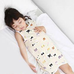 무형광 순면 아동 미니캣 수면조끼 여름원단 슬립색 잠옷