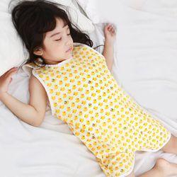 무형광 순면 아동 병아리 수면조끼 여름원단 슬립색 잠옷
