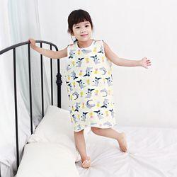 무형광 순면 아동 악어 수면조끼 여름원단 슬립색 잠옷
