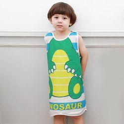 무형광 순면 아동 공룡 수면조끼 여름원단 슬립색 잠옷