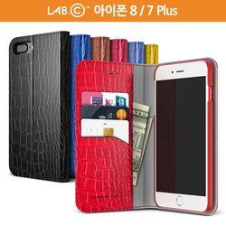 랩씨 아이폰 8 7 플러스 슬림 크로커다일 월렛 케이스