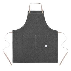 Reversible indigo apron  gray [ARC1125]